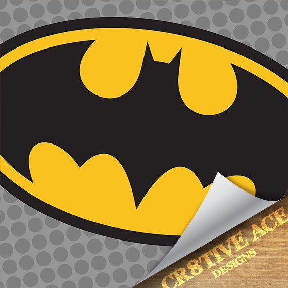 Superhero Batman Pop Art Wall Art / Batman Logo Pop Art / Batman ...