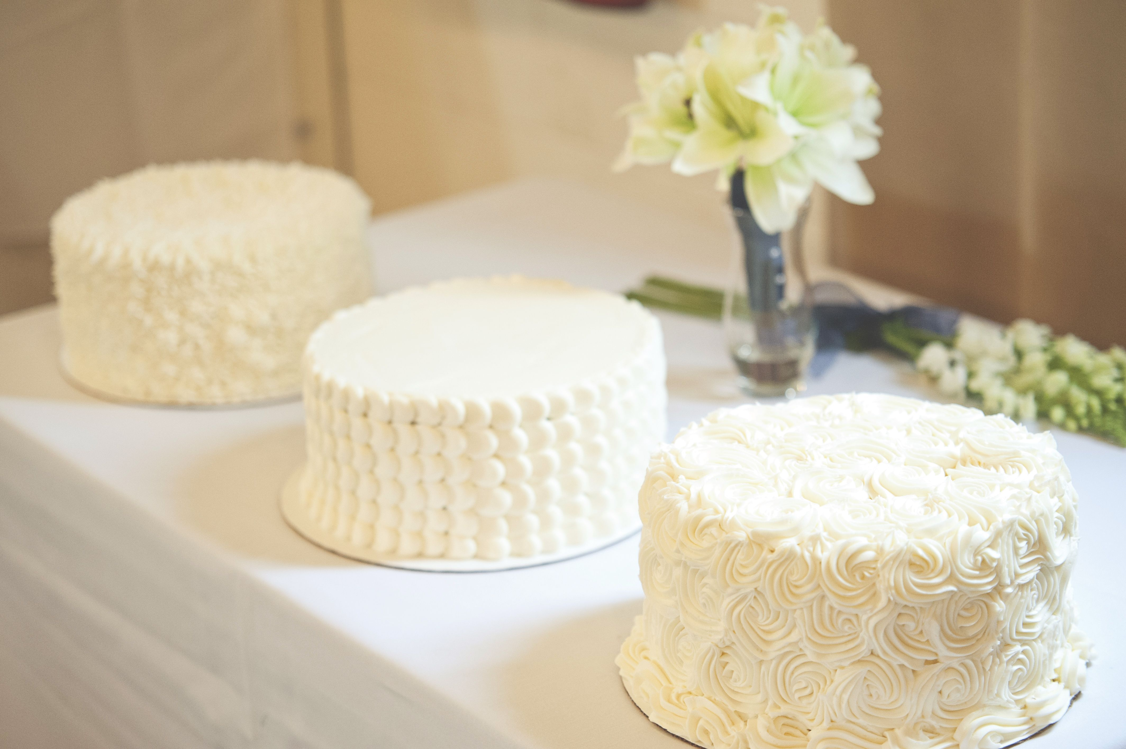 simple white buttercream wedding cake – Wedding | Wedding Cake ...