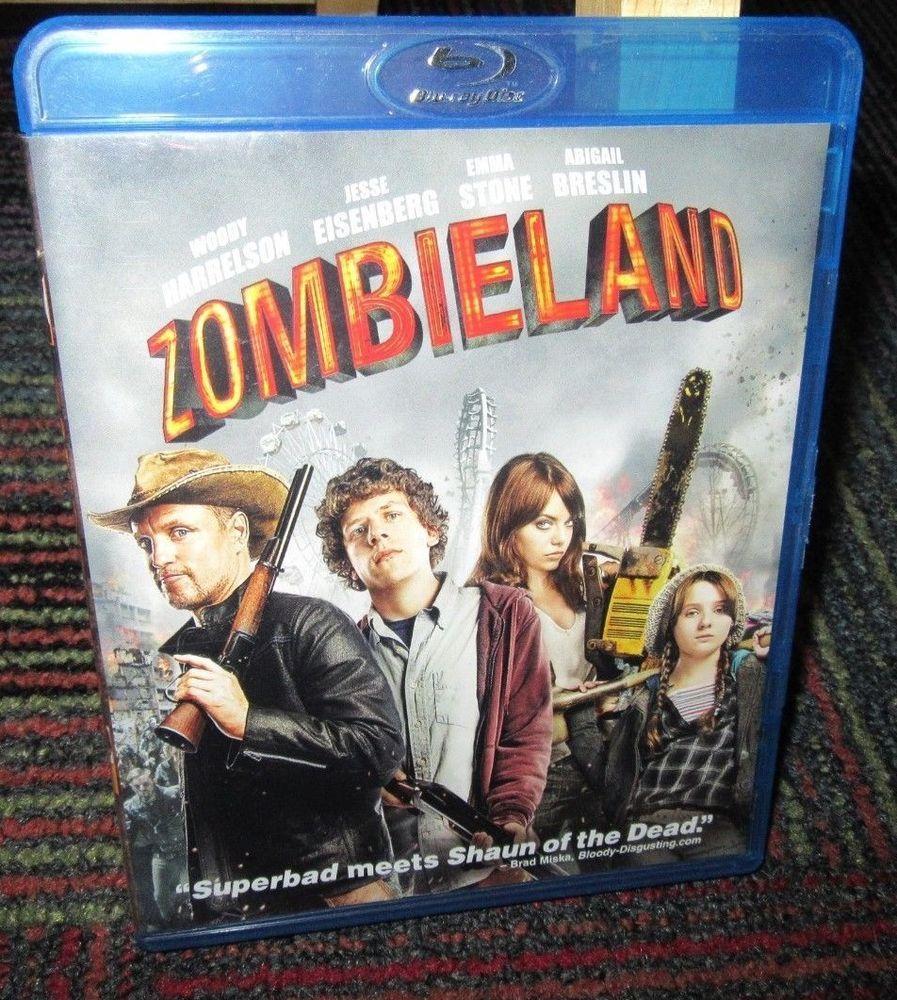 Zombieland 2 Disc Blu Ray Digital Copy Movie Woody Harrelson Jesse Eisenberg Book Cover Blu Ray Discs Superbad