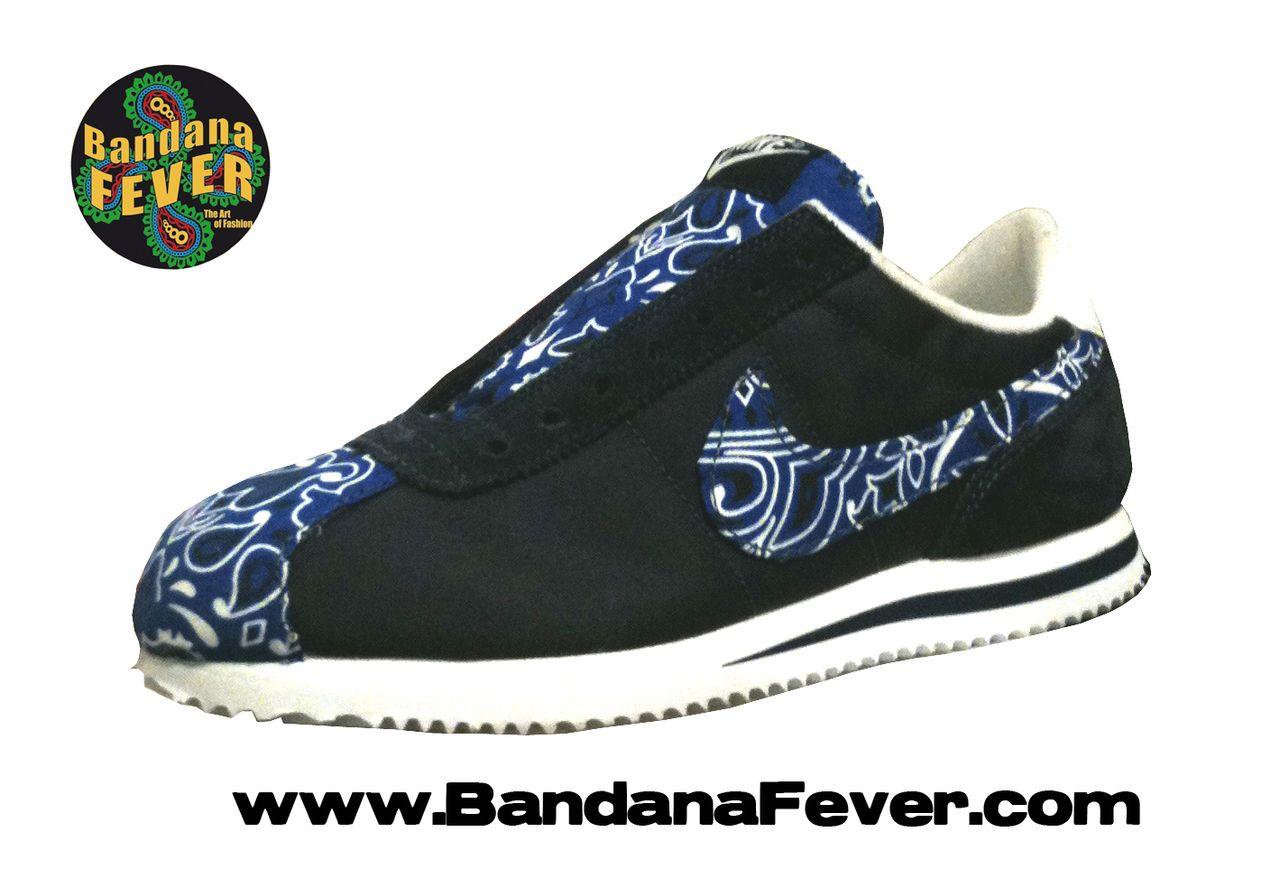new style 81d13 18373 ... discount code for bandana fever bandana fever custom bandana nike cortez  nylon black white royal blue