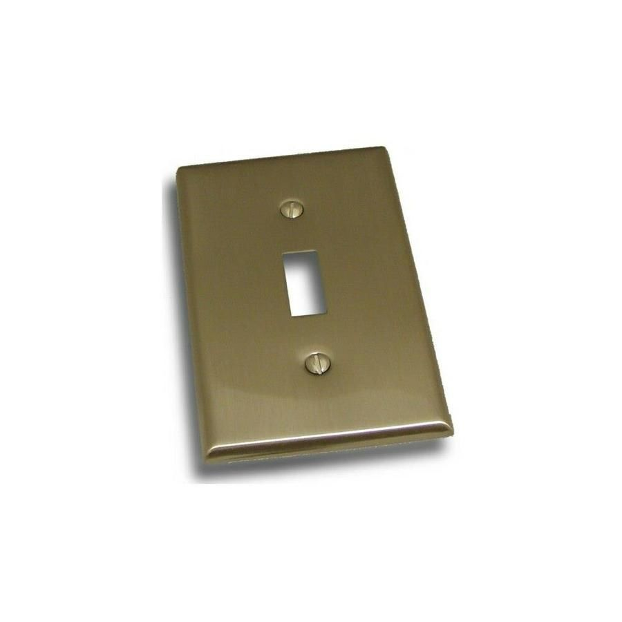 Residential Essentials 10813SN Single Toggle Switch Plate, Satin Nickel Residential Essentials Residential Essentials 10813SN Single Toggle Switch Plate, Satin Nickel | RDES346