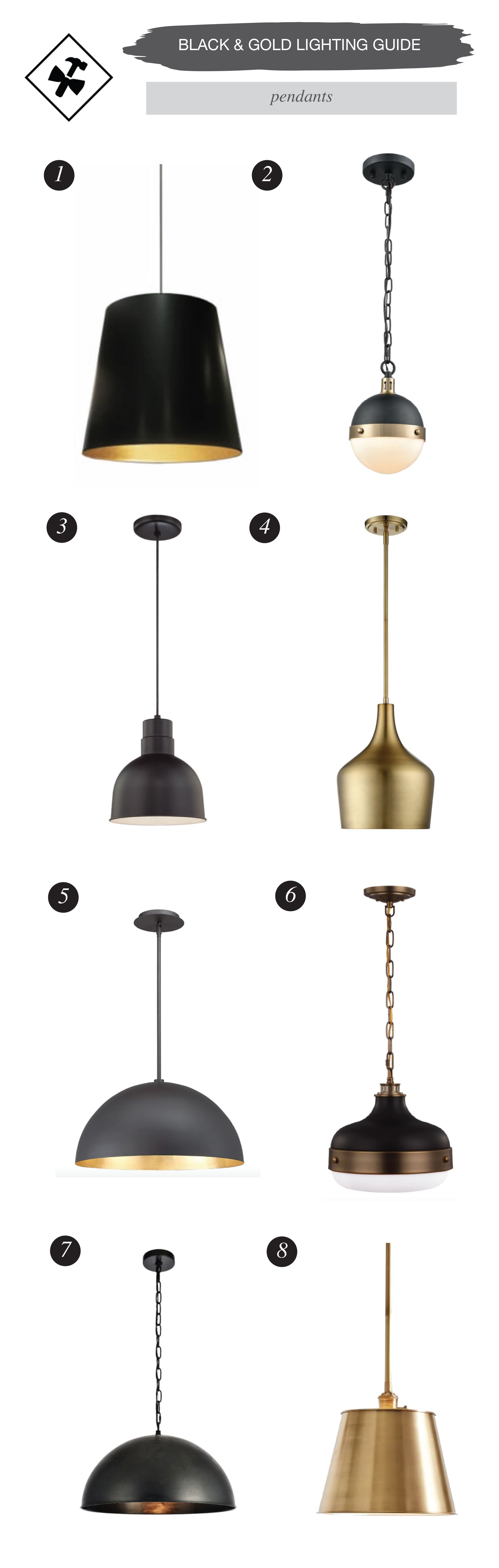 Your guide to black gold lighting fixtures construction2style