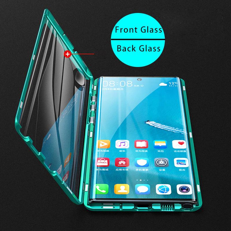 360 المغناطيسي واقية حقيبة لهاتف سامسونج غالاكسي نوت 10 برو 9 8 غطاء كامل الزجاج المقسى الوجه الحال بالنسبة Samsung Galaxy Note Galaxy Note 10 Protective Cases