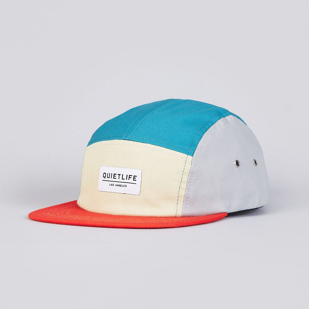 The Quiet Life Quad 5 Panel Cap Orange   Turquoise 5 Panel Hat c01b7a797a15