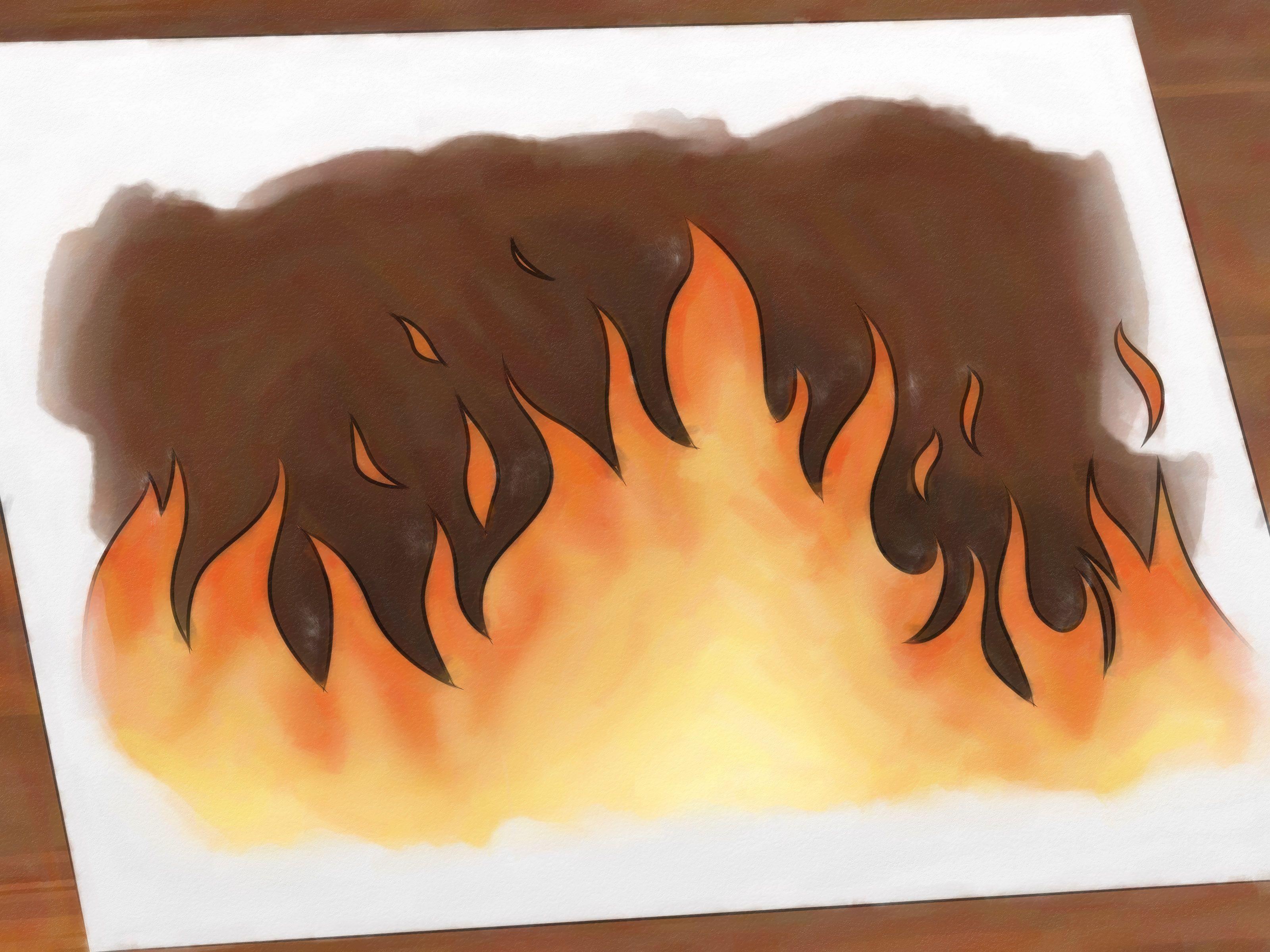 важный рисунки огня карандашом тогда еще очень