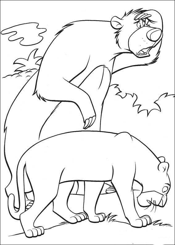 das dschungelbuch 13 ausmalbilder für kinder malvorlagen