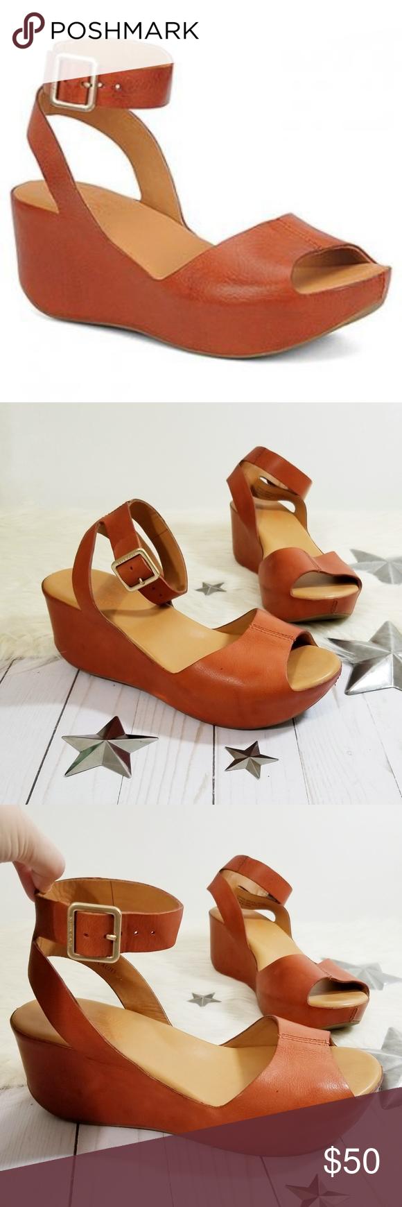 2b764743523 Kork-Ease Carolyne wedge sandals Rust orange ankle Kork-ease Carolyne style  wedges.