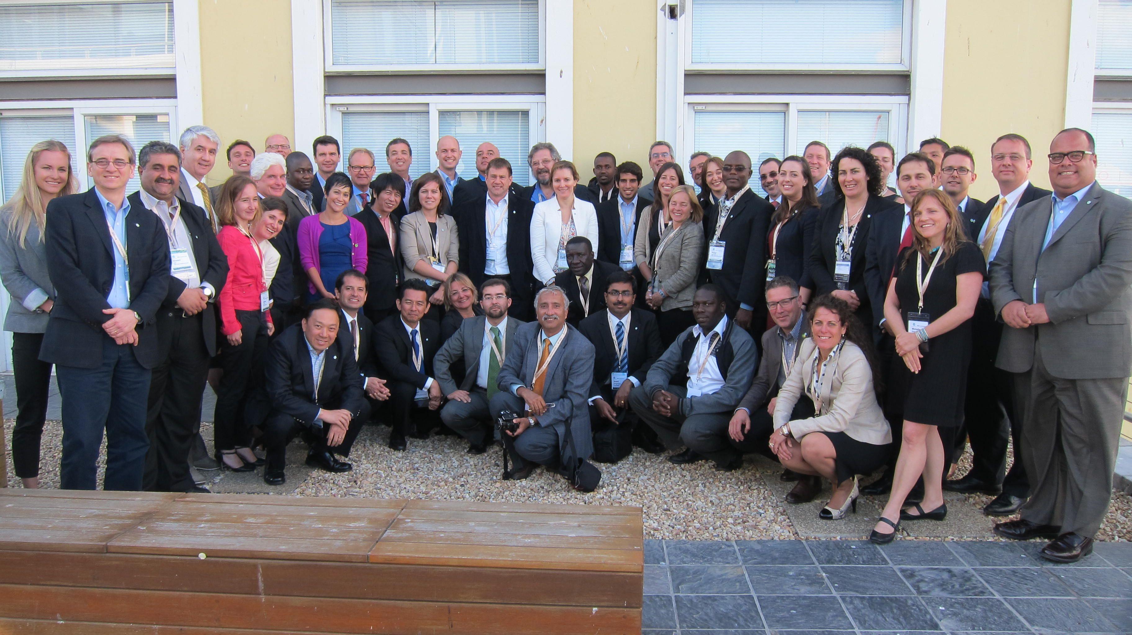 Javier Vidal Olcese, Presidente del Directorio junto a 50 países Miembros del World GBC en Sudáfrica.