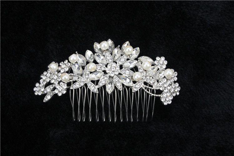 Grzebien Slubny Srebrny Slub Ozdoba Do Wlosow Hit 5604736448 Oficjalne Archiwum Allegro Rhinestone Wedding Bridal Comb Party Accessories