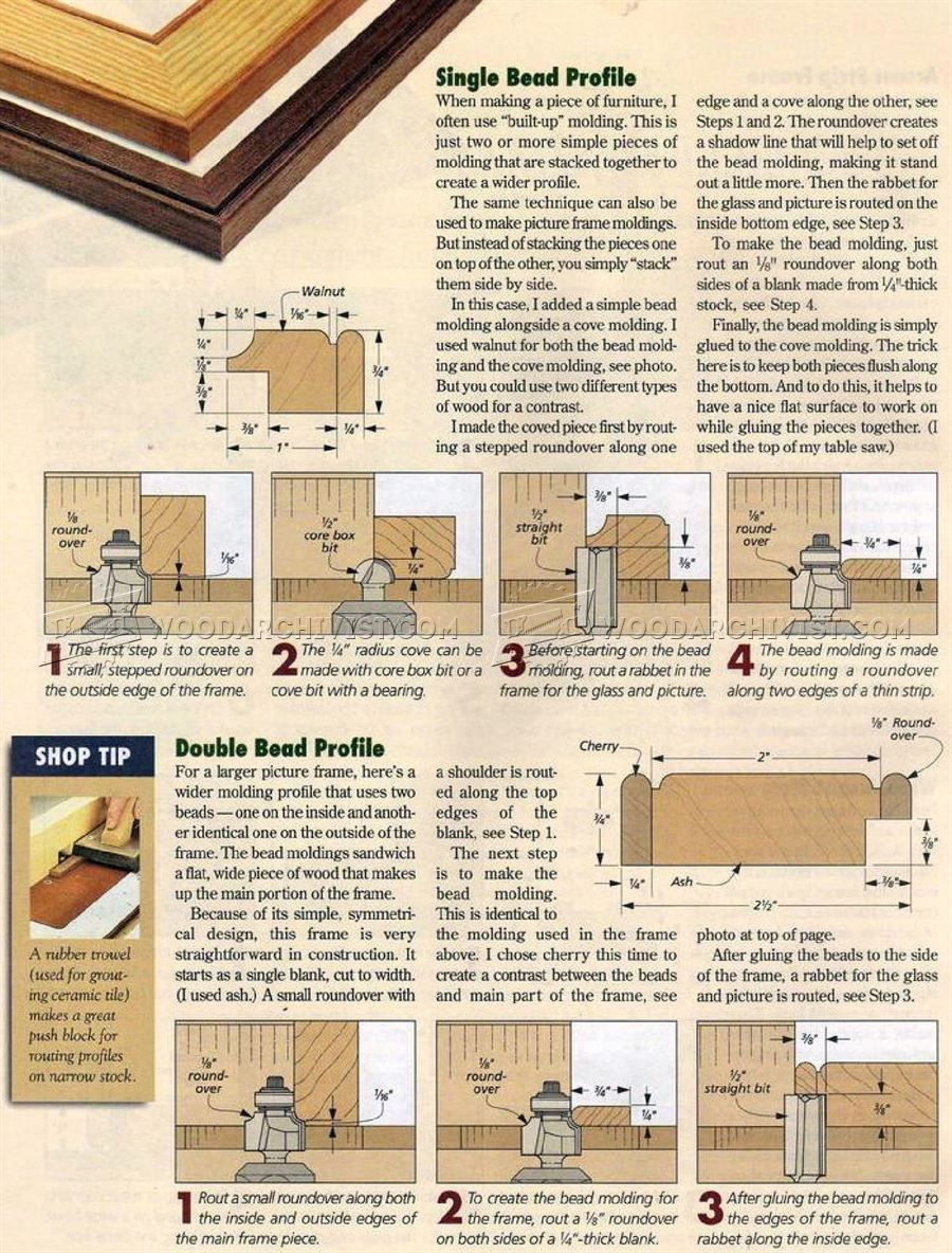 Making Picture Frame Moldings | Molduras, Carpinteria y Bricolaje