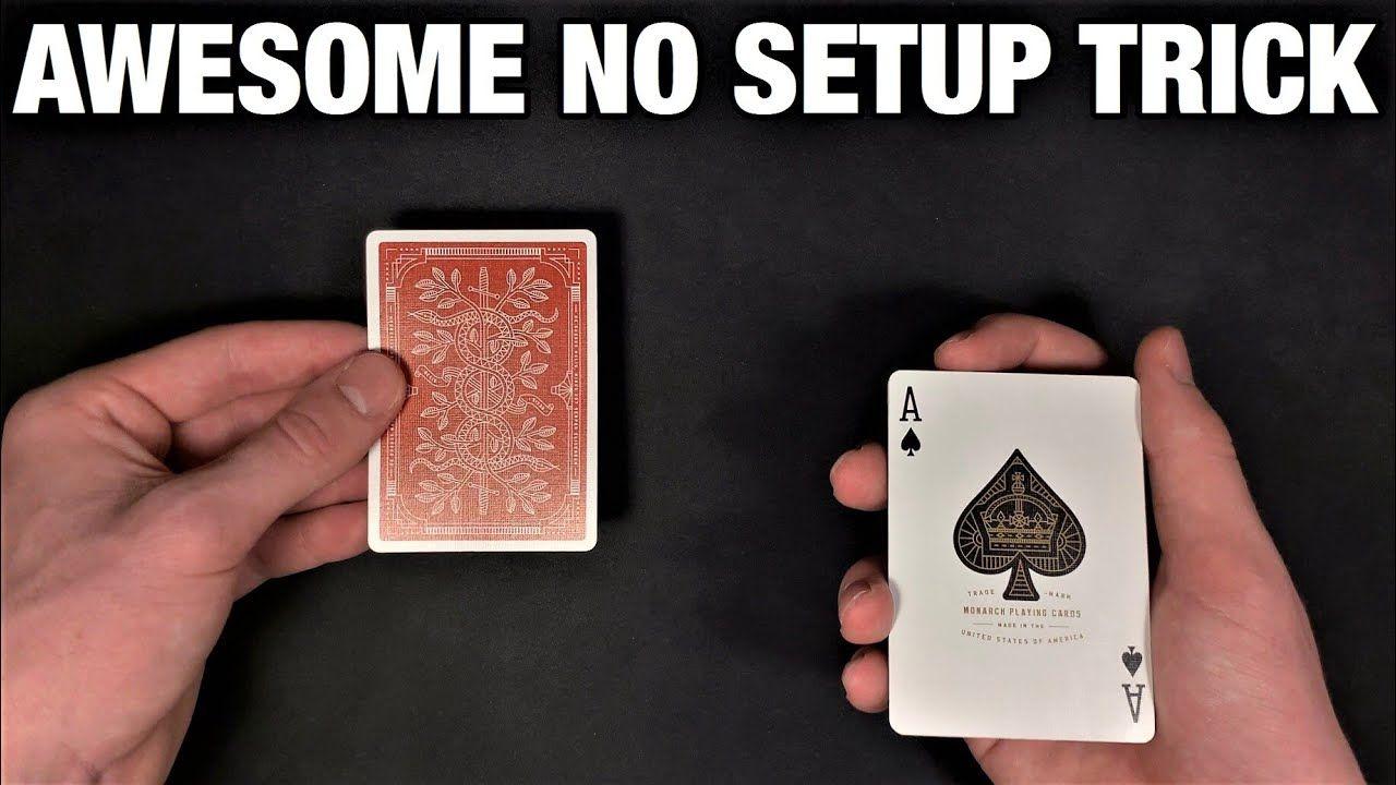 perform this super sensational impromptu card trick all