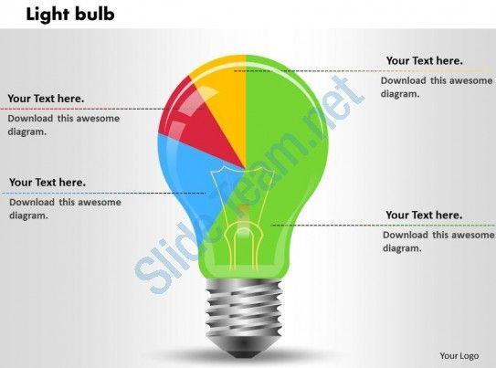 0414 Light Bulb Shapes Pie Chart Powerpoint Graph Slide01 Bureaux