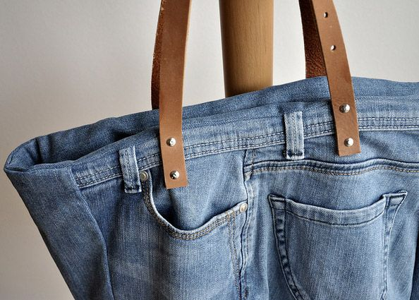 Riciclare i jeans borsa fai da te come fare una borsa in for Borsa jeans tutorial