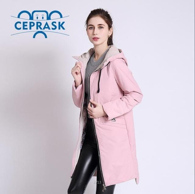 Women S Coat Spring Autum Female Windproof Thin Parka Long Plus Size ... 5adfc81df6