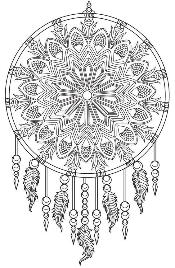 Pin By Life On A Budget 4u On Coloring Pages Dream Catcher