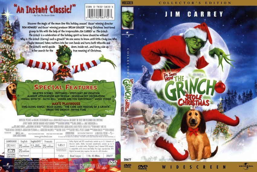 How The Grinch Stole Christmas Movie Dvd Scanned Covers Grinch Stole Christmas Christmas Fabric Christmas Movies