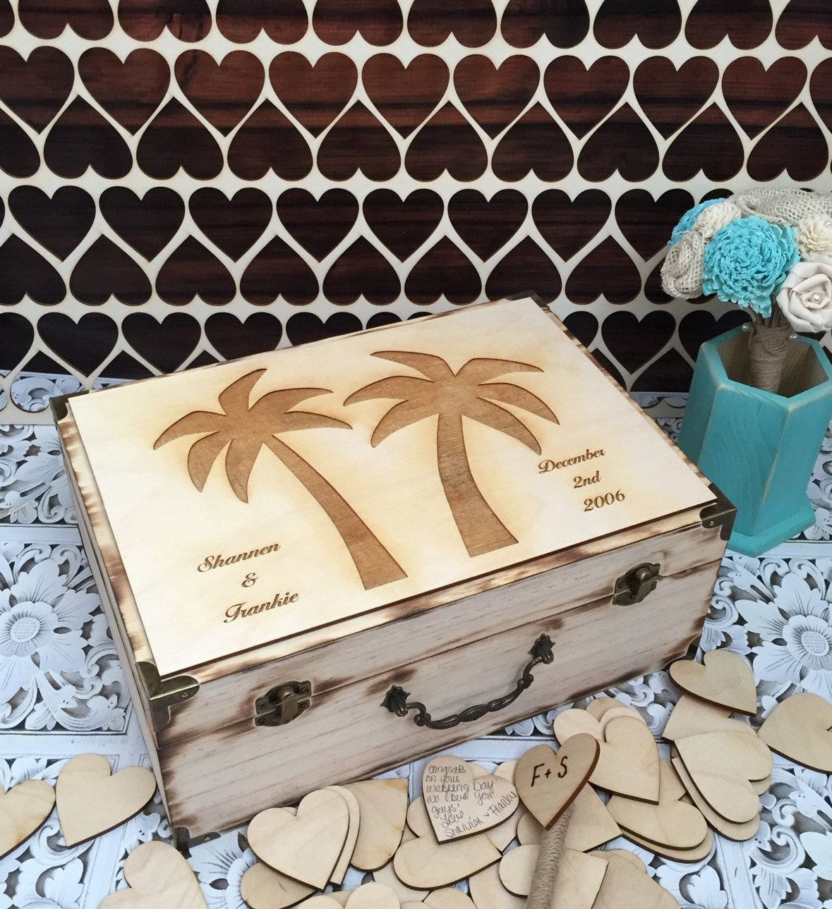 Destination wedding guest book  beach wedding guest book  rustic