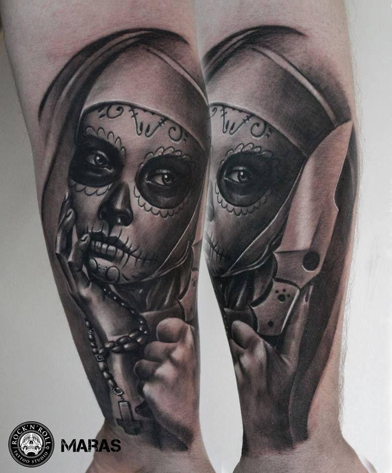 Tattoo Santa Muerte | Day of the dead tattoos | Tattoos