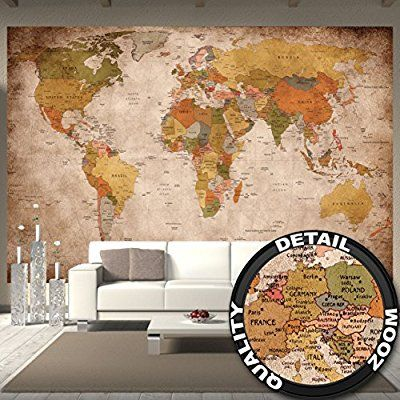 Amazon wallpaper used look wall picture decoration globe amazon wallpaper used look wall picture decoration globe continents atlas world map gumiabroncs Gallery