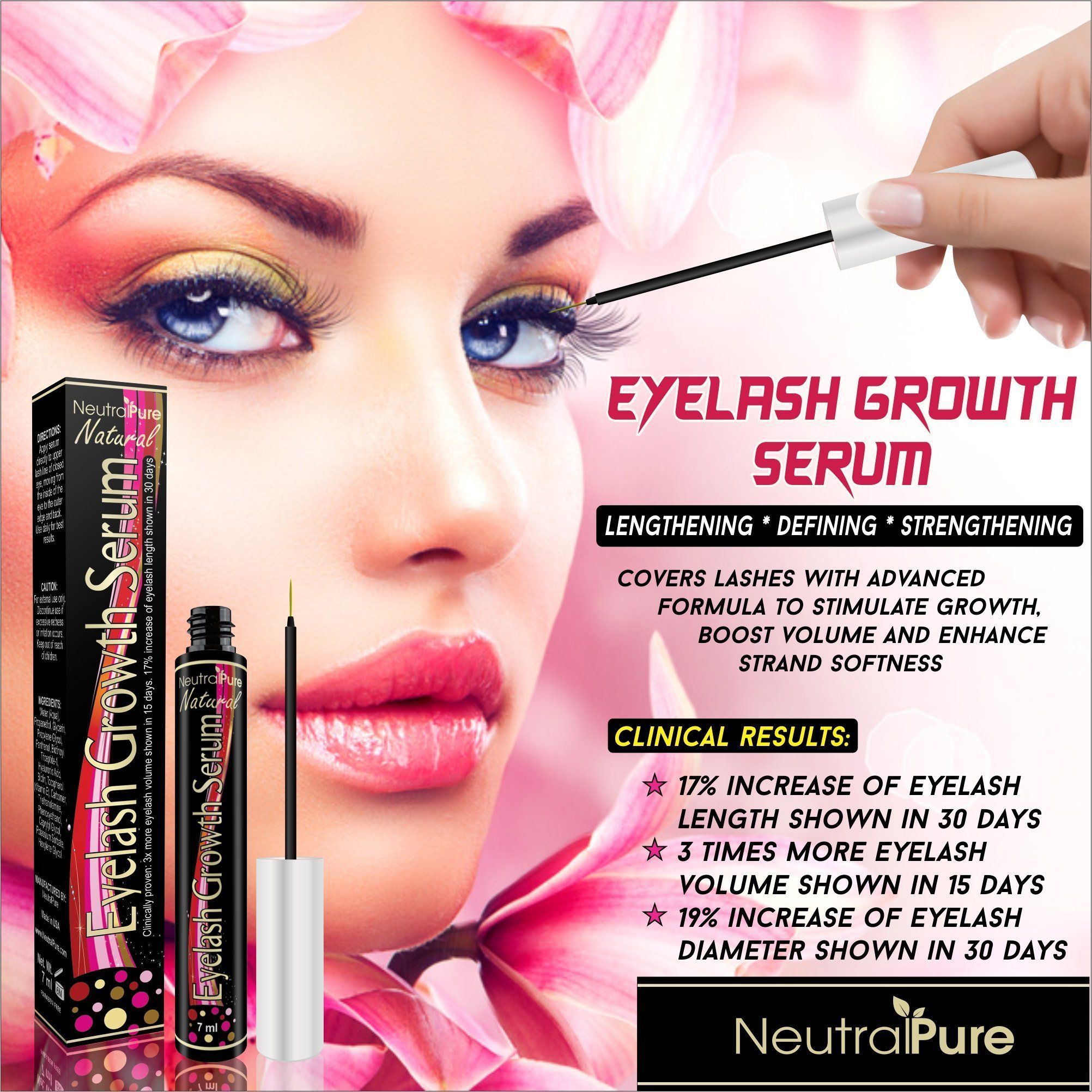 Eyelash Growth Serum: Clinically Proven Thicker Longer and ...