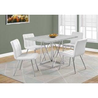 Grey Cement And Chrome Dining Table  More Cement Ideas Amazing Grey Dining Room Sets Inspiration
