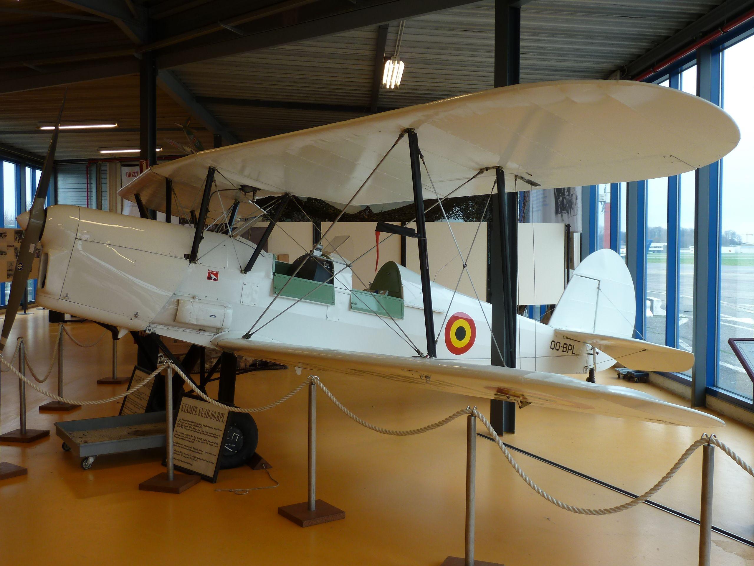 SV4 , Stampe Vertongen museum Antwerp Belgium. All planes still can fly. Januari 2014