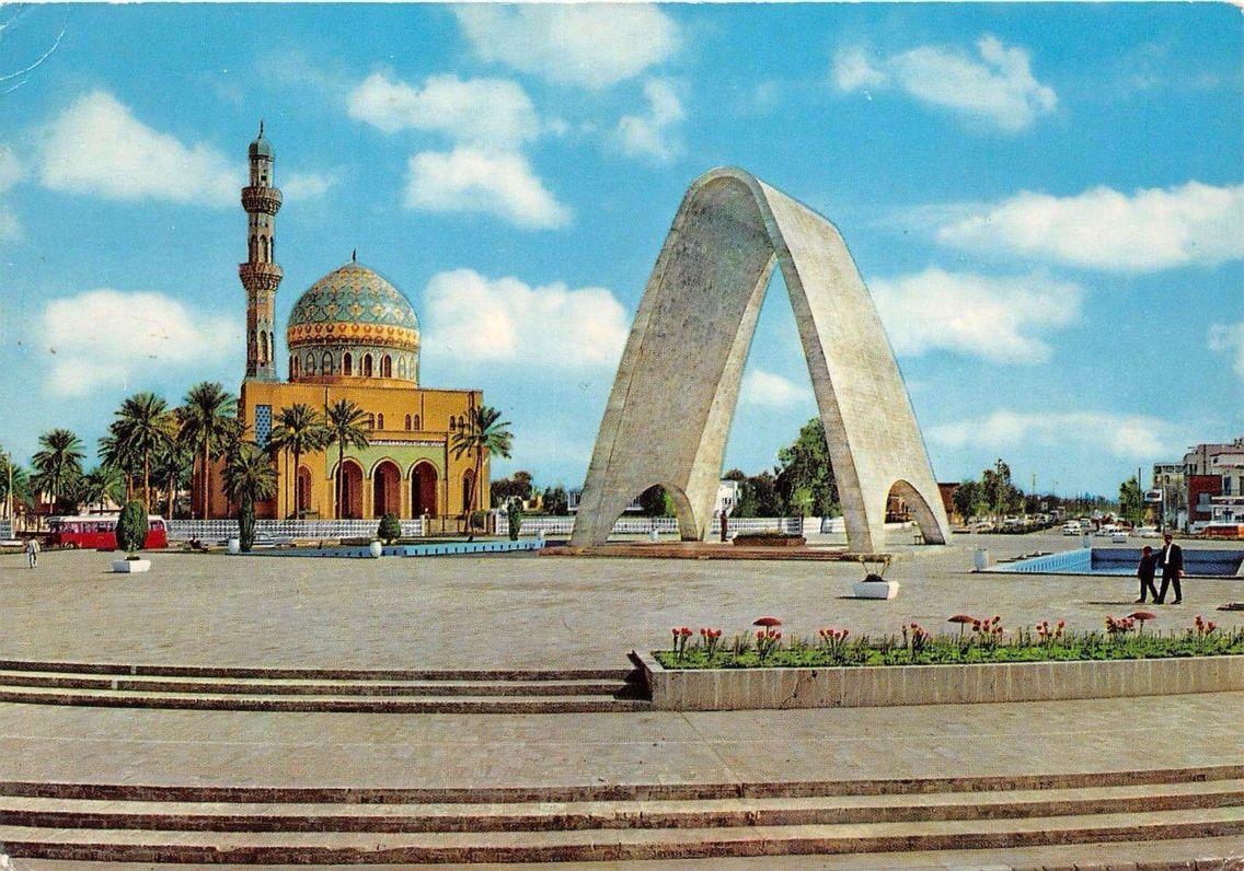 ساحة الفردوس والجندي المجهول وجامع 14 رمضان عام 1965 Baghdad Old Photos Iraq
