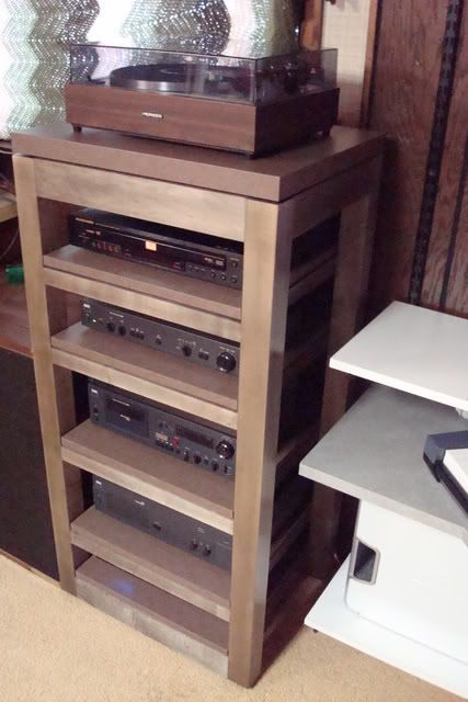 Diy Audio Rack Progress Not A Flexy Audio Rack Diy Storage