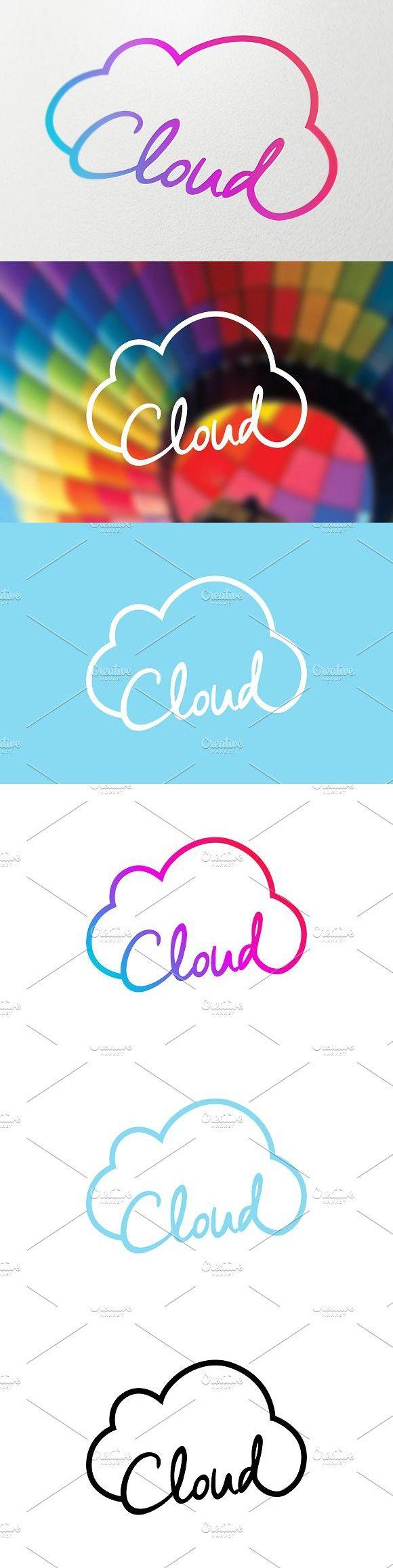 Cloud Technology Symbol. Logo Templates Logo templates
