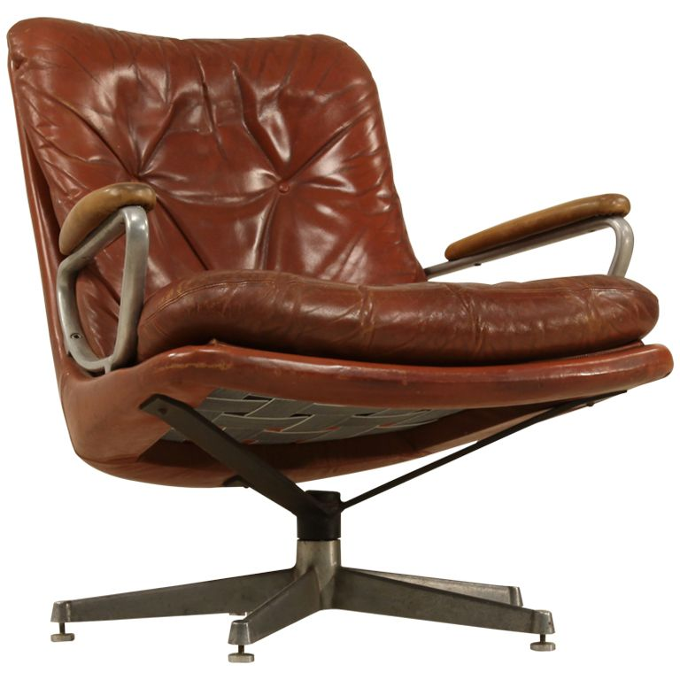 Unique Lounge Chairs leather lounge chair on swivelstrassle | lounge chairs