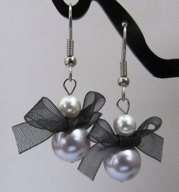 Lavender and White Pearl Earrings by MoYuenCreations on Etsy, $8.00