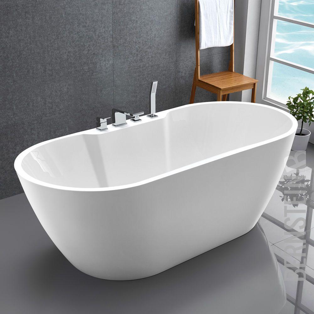 Freistehende Badewanne Standbadewanne Acryl Jazz Plus Weiss 170 X 80 Cm Armatur Ebay Badezimmer Gunstig Badewanne Badezimmer