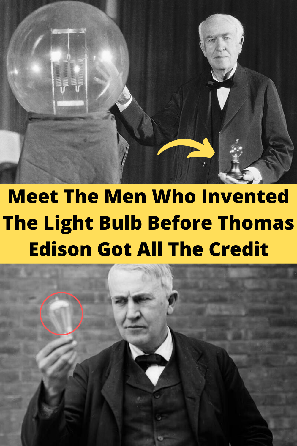 Nearly 80 years before Edison got his patent, these