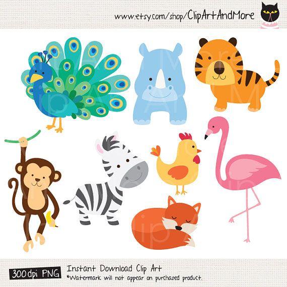 Animal Cartoon Clipart Baby Cute Animal Clipart Clip Art Etsy Cute Animal Clipart Animal Clipart Cartoon Clip Art