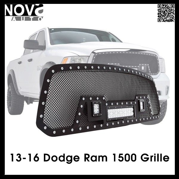 Source Ram 1500 Accessories 13 16 Dodge Ram Stainless Steel Wire Mesh Grille For Led Light Dodge Truck Accessories Ram 1500 Accessories Ram Trucks Accessories