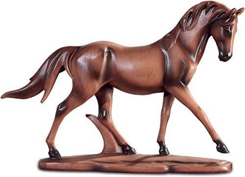 Statuette cheval style bois 33 cm avenuelafayette https www amazon
