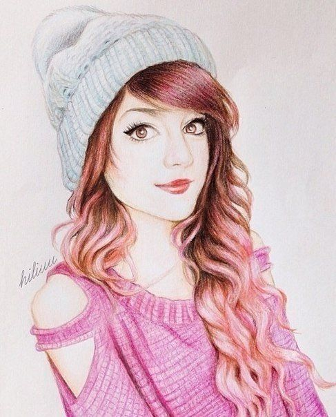 Creative Hairstyle Drawings With Images Beautiful Girl Drawing