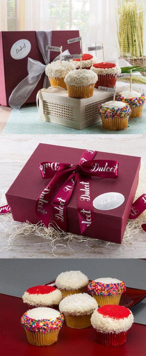 Gourmet assorted vanilla cupcake gift basket bakery dessert gourmet assorted vanilla cupcake gift basket negle Image collections