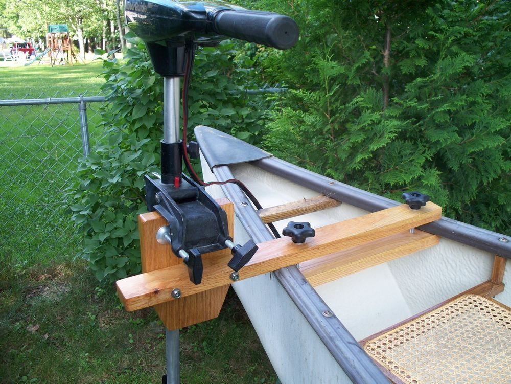 Maine Made Oak Canoe Motor Mount Canoeing Fish And Boating
