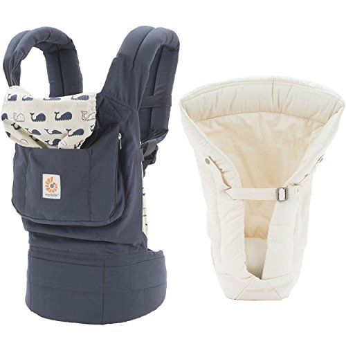 Ergobaby Original Baby Carrier With Natural Organic Cotton Fabric Infant Insert Marine Check This Awesome Product By Go With Images Baby Carrier Child Carrier Carriers