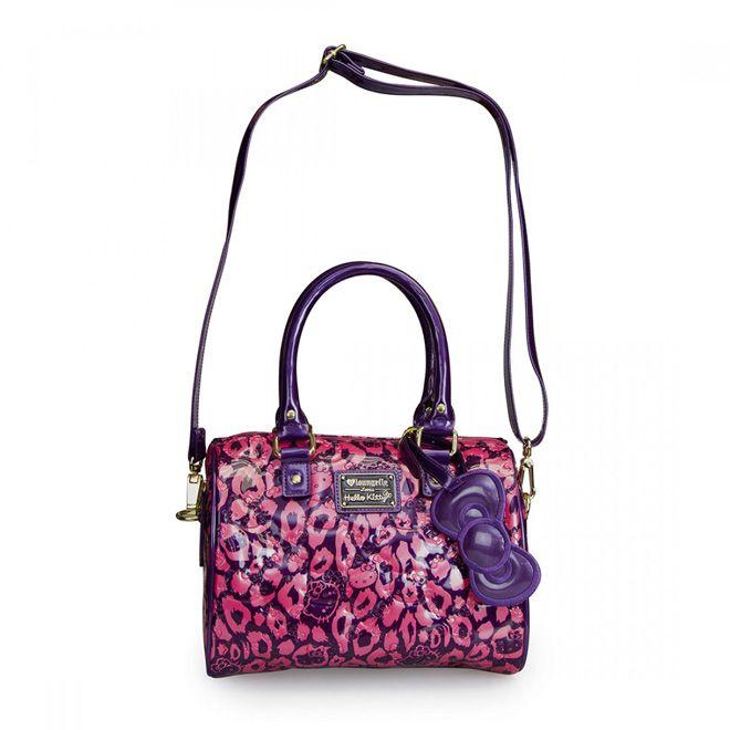 Hello Kitty Purple/Pink Leopard Embossed Mini City Bag