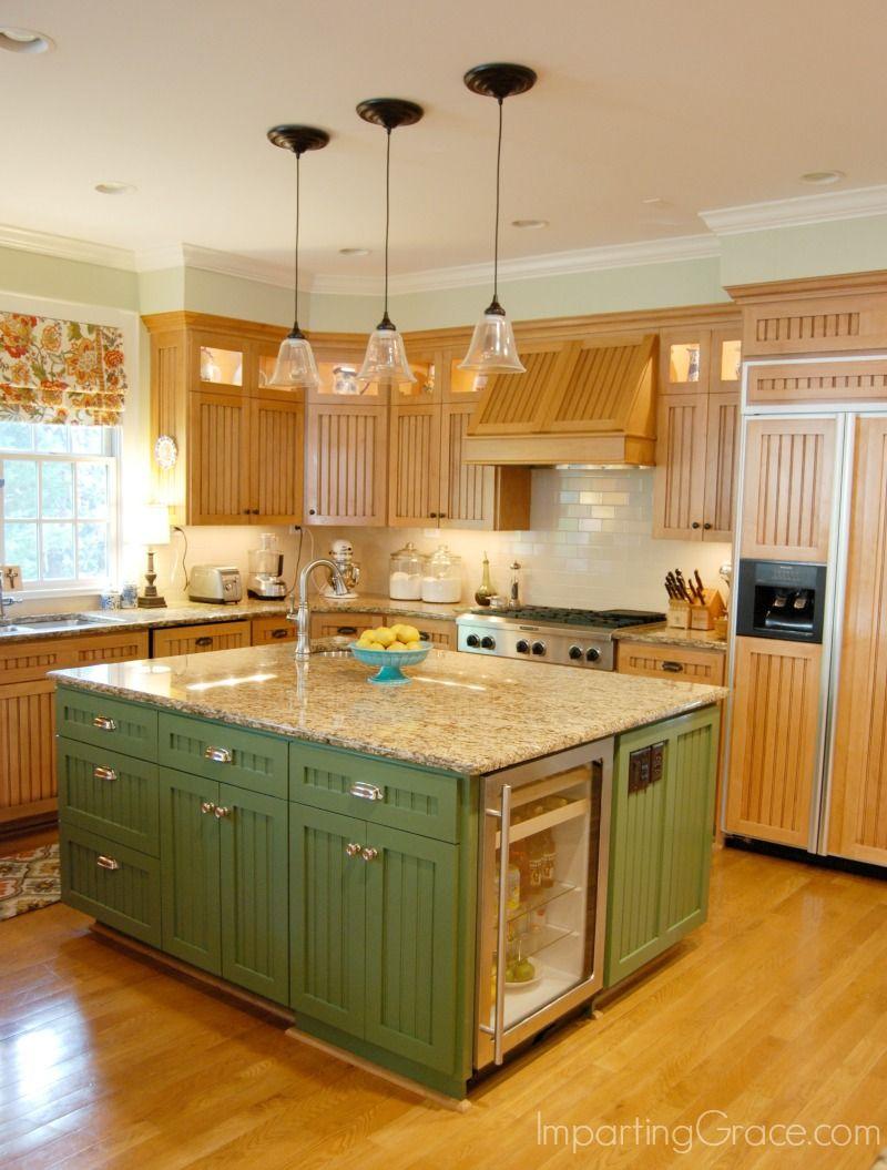 Kitchen island makeover | Kitchen island makeover, Green kitchen ...