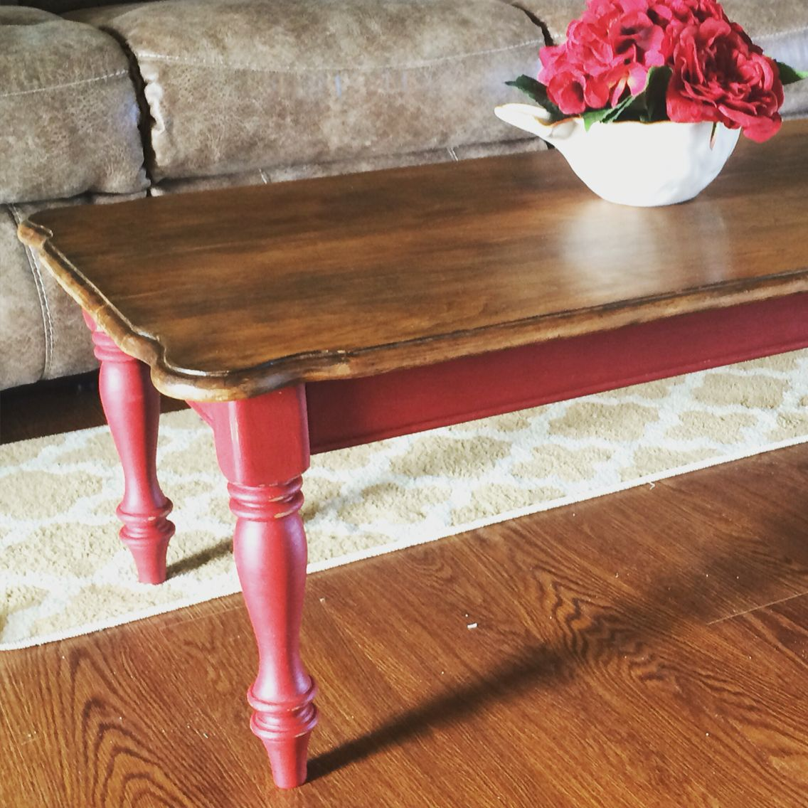 red chalk paint coffee table | home sweet home | pinterest | paint