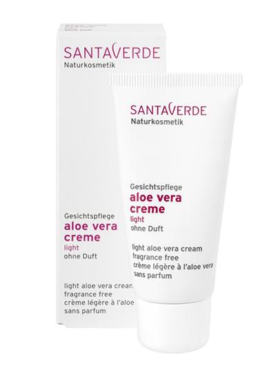Creme zonder parfum - SantaVerde Aloë Vera Cream Light zonder parfum