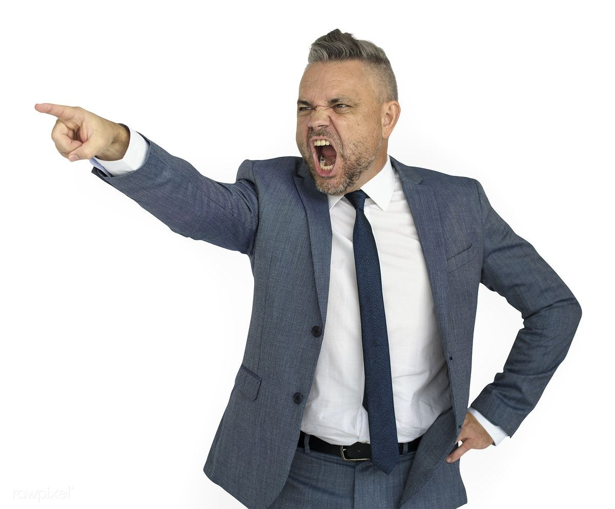Download Premium Psd Of Caucasian Business Man Pointing Angry 7220 Business Man Studio Shoot Angry