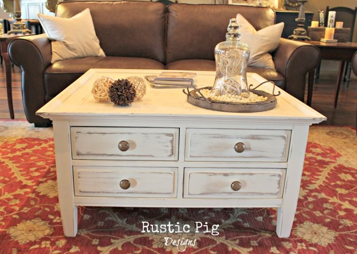 Cottage Style Coffee Table Farmhouse Furniture Decor Living Room Furniture Layout