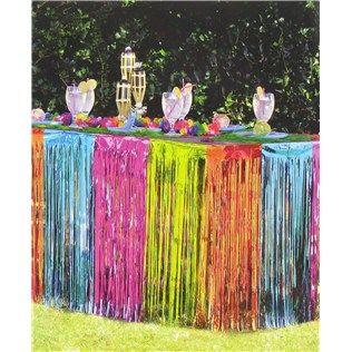 Multi Color Foil Table Skirt Shop Hobby Lobby Table Skirt