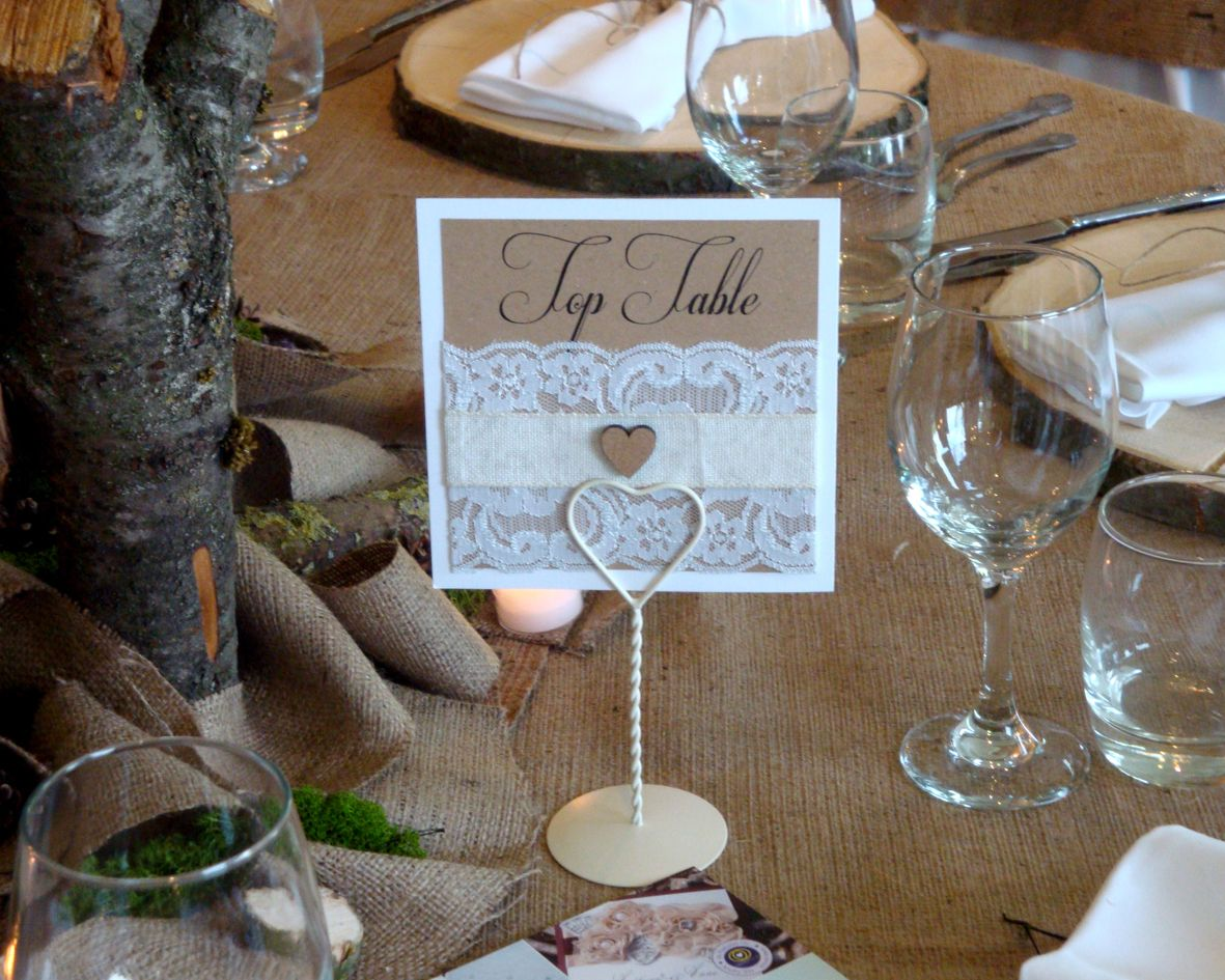 Rustic themed table name