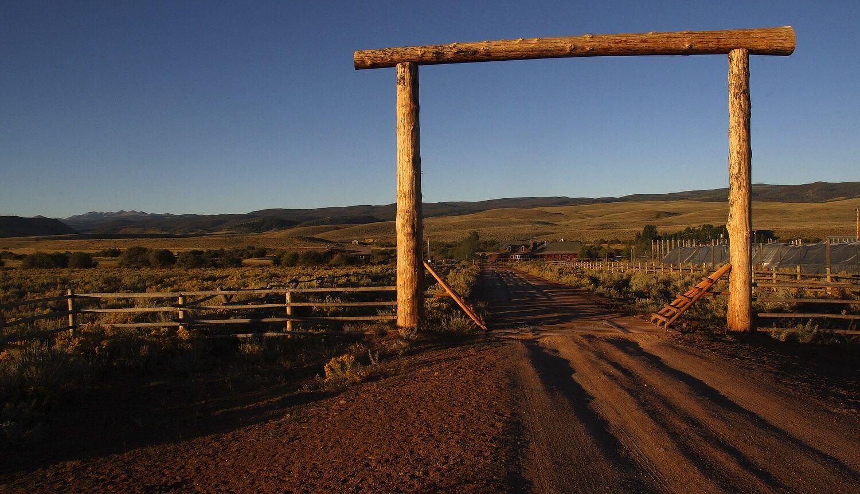Dude Ranch Enterance