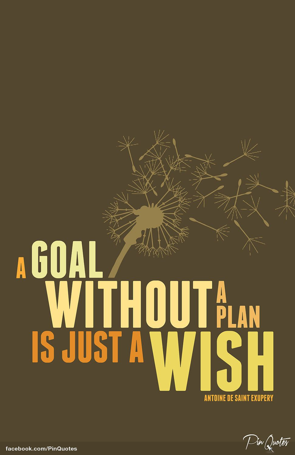 "Inspirational Quote Canvas Art ""A goal without a plan is"